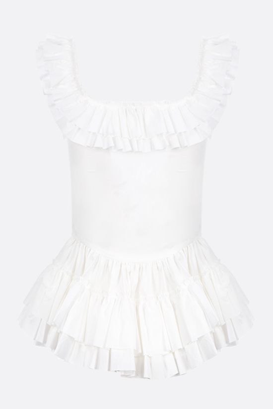 MOLLY GODDARD: Oliver frill cotton top Color White_2
