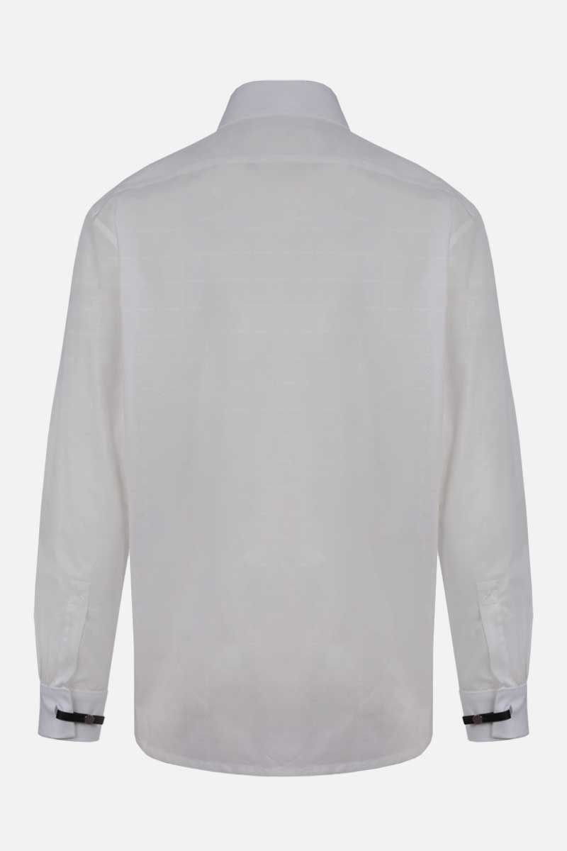 1017 ALYX 9SM: check logo-pattern cotton shirt Color White_2