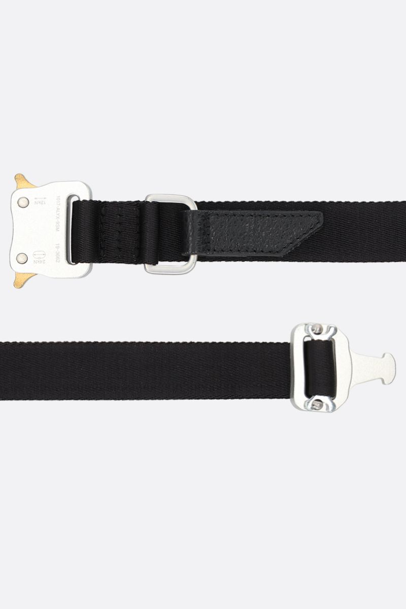 1017 ALYX 9SM: Rollercoaster buckle-detailed nylon medium belt Color Black_2