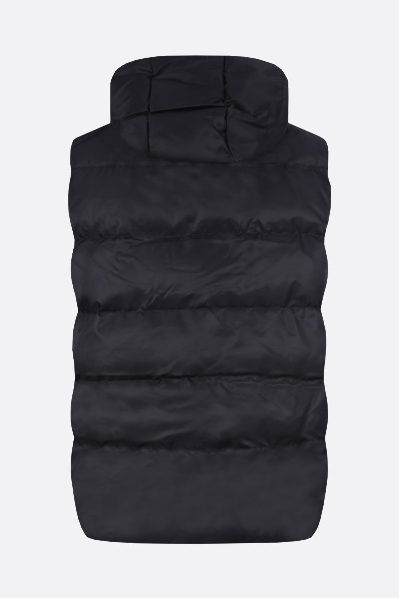 1017 ALYX 9SM: Rollercoaster buckle-detailed nylon sleeveless padded jacket Color Black_2