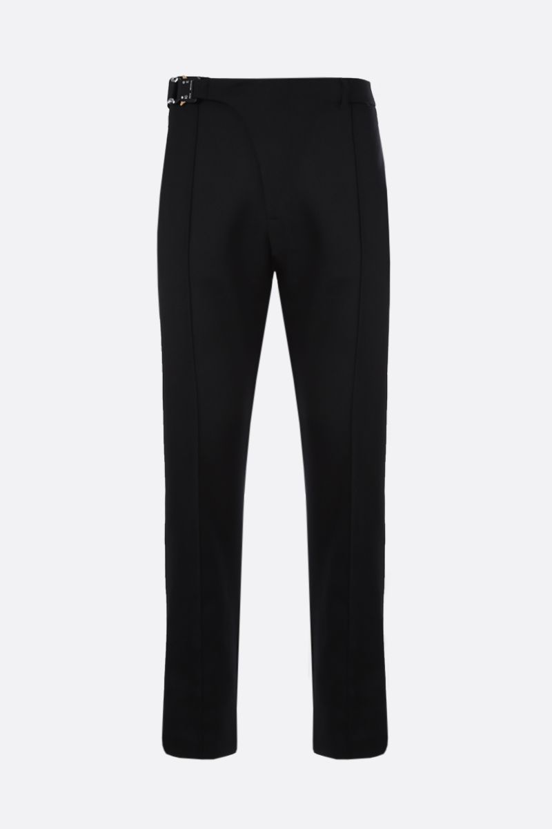 1017 ALYX 9SM: Rollercoaster buckle-detailed wool blend pants Color Black_1