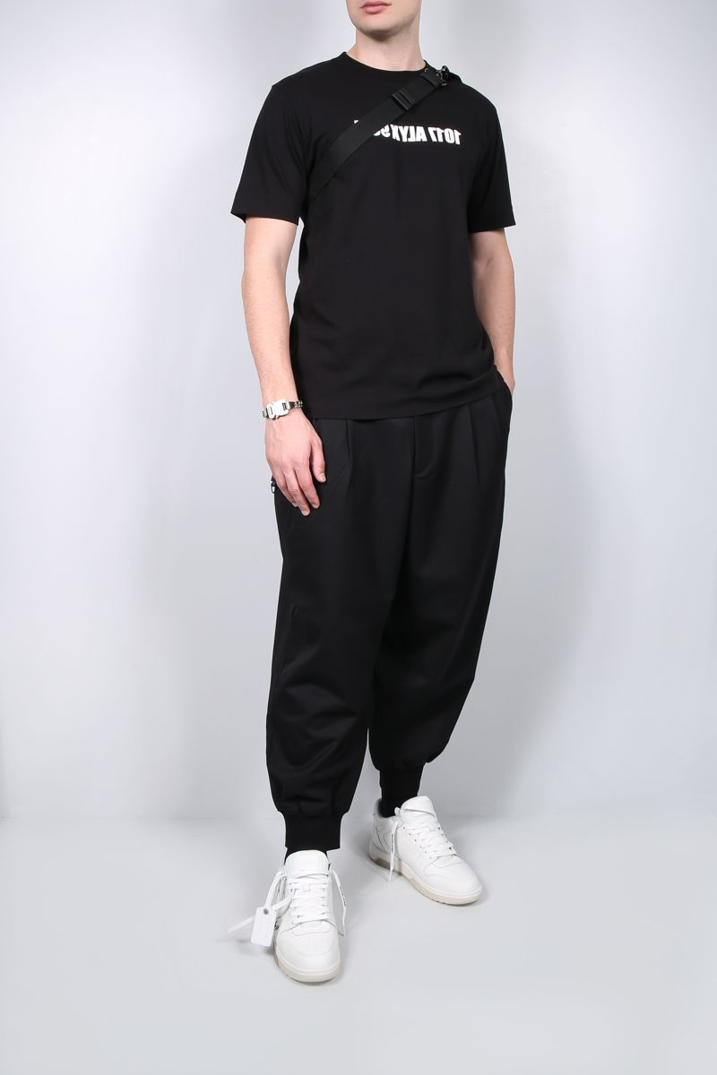 1017 ALYX 9SM: Mirrored Logo cotton t-shirt Color Black_2