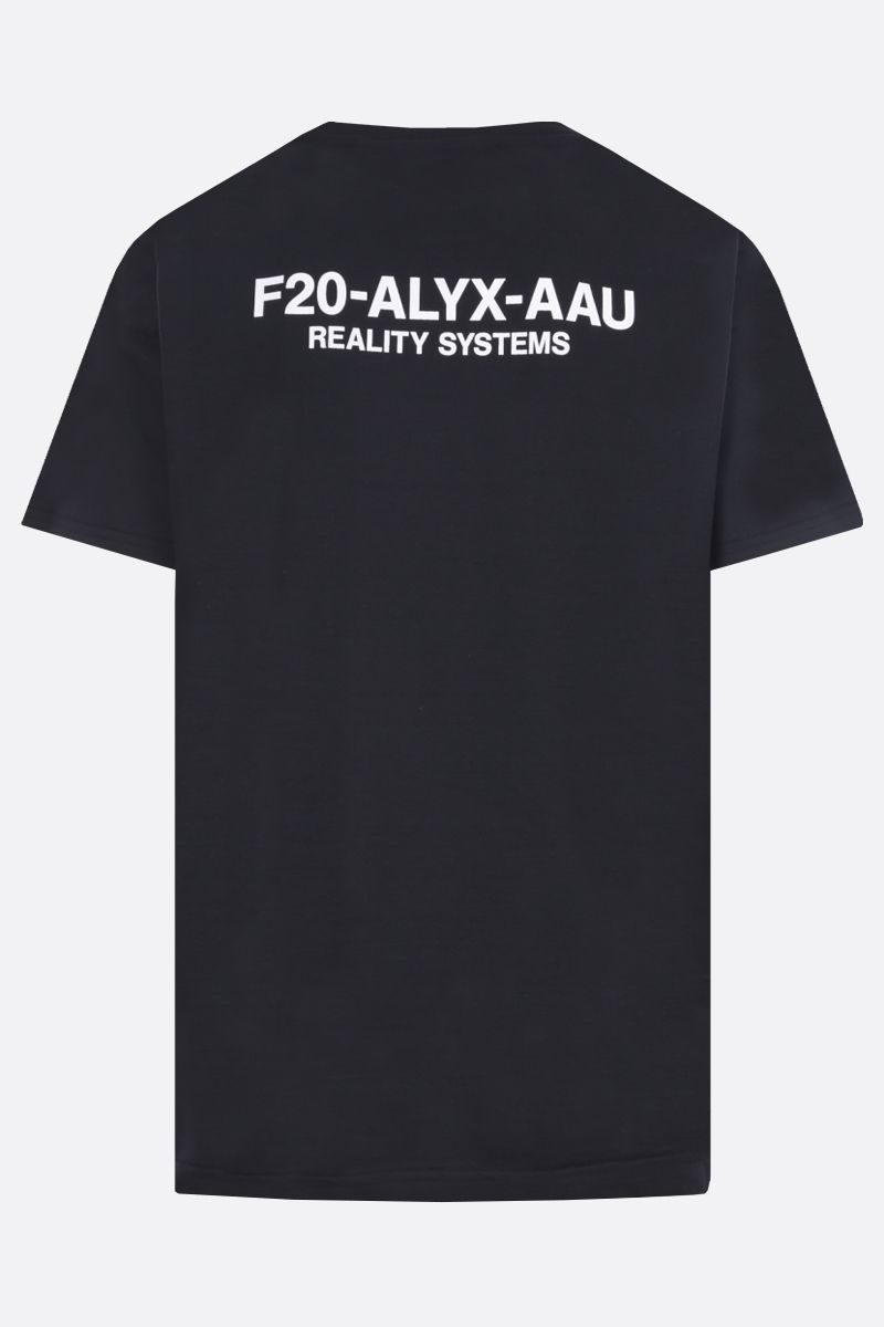 1017 ALYX 9SM: F20-ALYX-AAU print cotton blend t-shirt Color Black_2