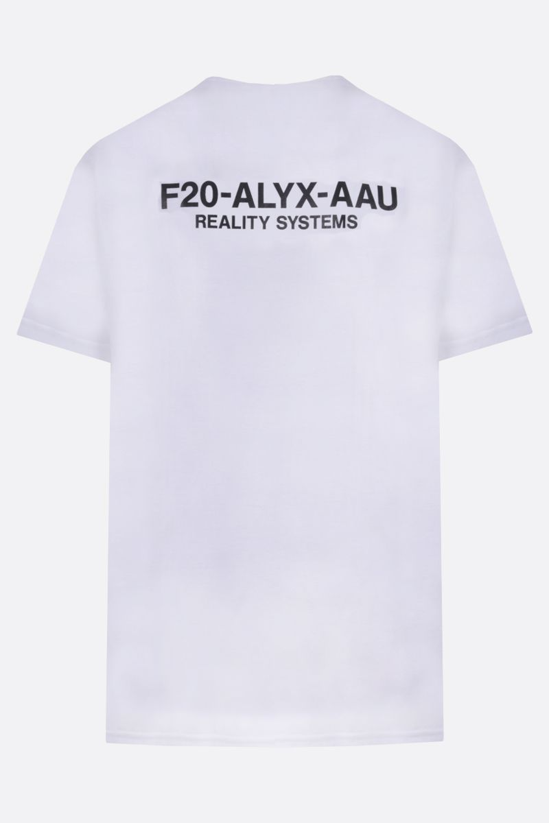 1017 ALYX 9SM: F20-ALYX-AAU print cotton blend t-shirt Color White_2
