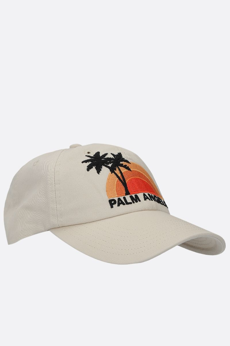 PALM ANGELS: cappellino baseball Sunset in canvas Colore Multicolore_2
