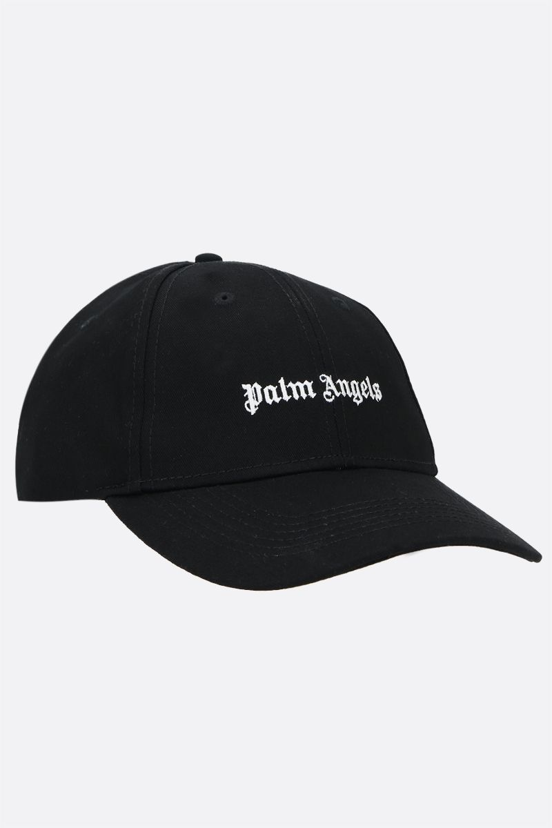 PALM ANGELS: Palm Angels embroidered baseball cap Color Black_2
