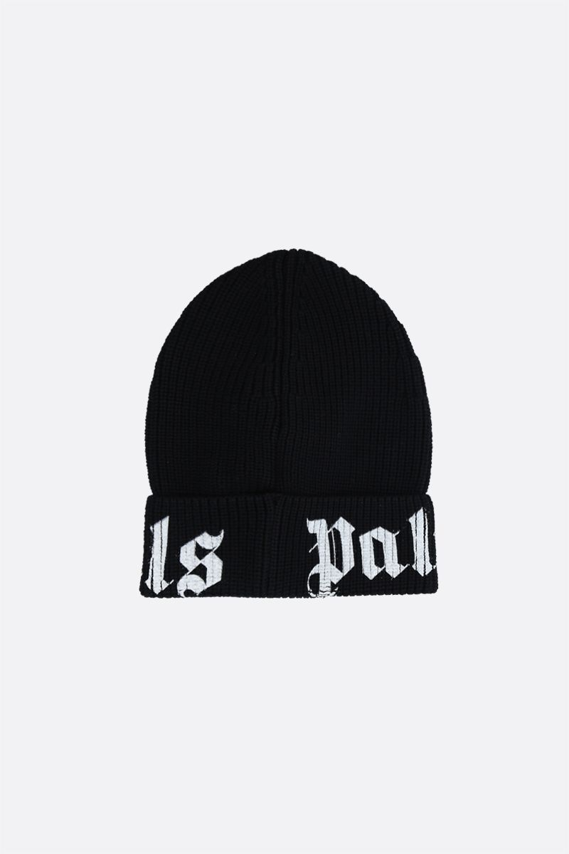PALM ANGELS: Palm Angels wool beanie Color Black_2