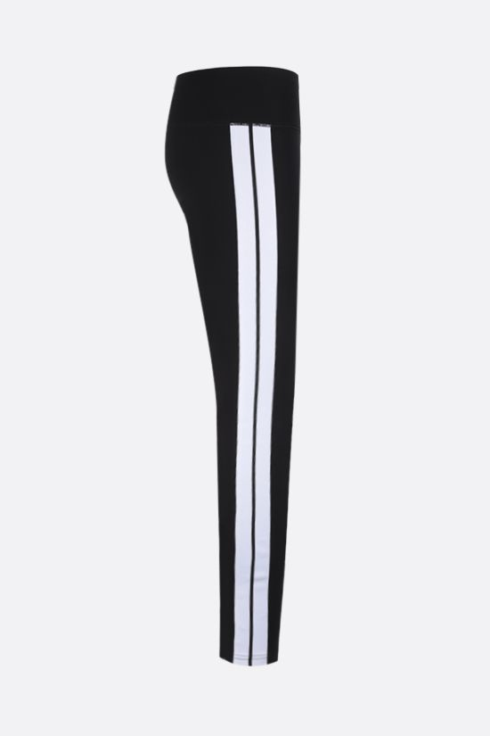 PALM ANGELS: contrasting bands technical fabric leggings Color Black_2