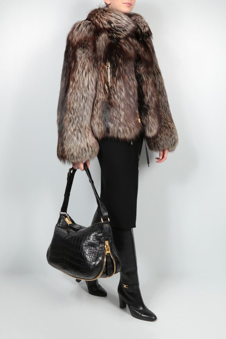 TOM FORD: fox fur short jacket Color Brown_2