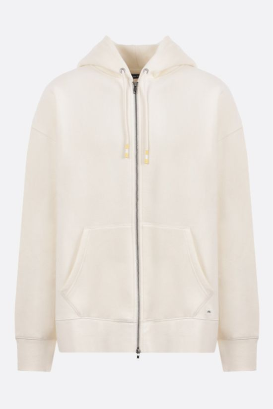 LEVI'S MADE & CRAFTED: oversize full-zip jersey hoodie Color Neutral_1