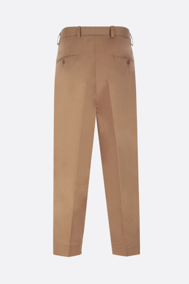 MAISON FLANEUR: cotton wide-leg pants Color Brown_3