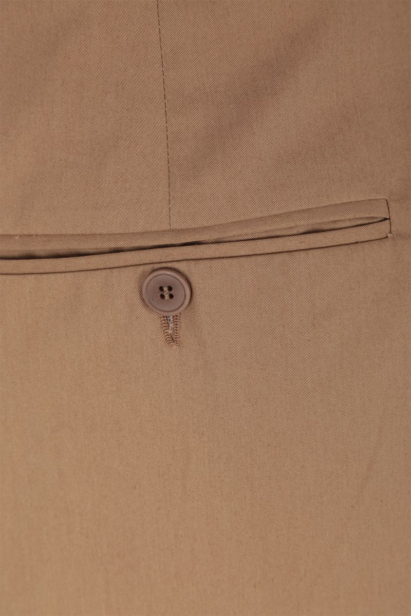 MAISON FLANEUR: cotton wide-leg pants Color Brown_5