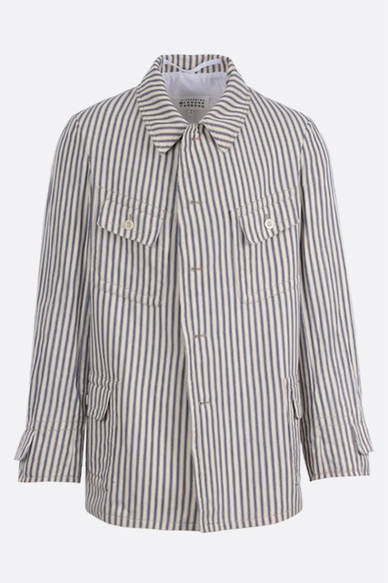 MAISON MARGIELA: striped canvas jacket_1