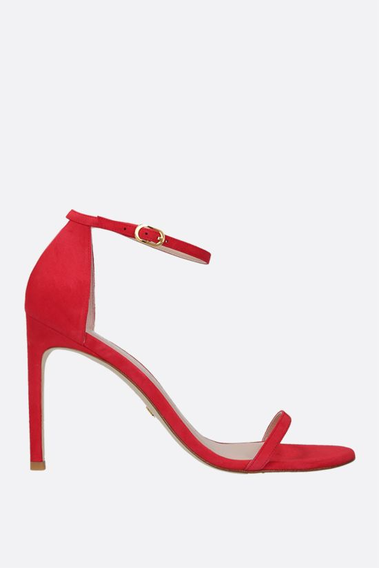 STUART WEITZMAN: Nudistsong suede sandals Color Red_1