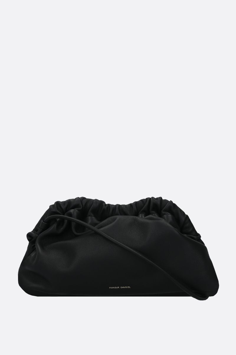 MANSUR GAVRIEL: mini Cloud soft nappa clutch Color Black_1