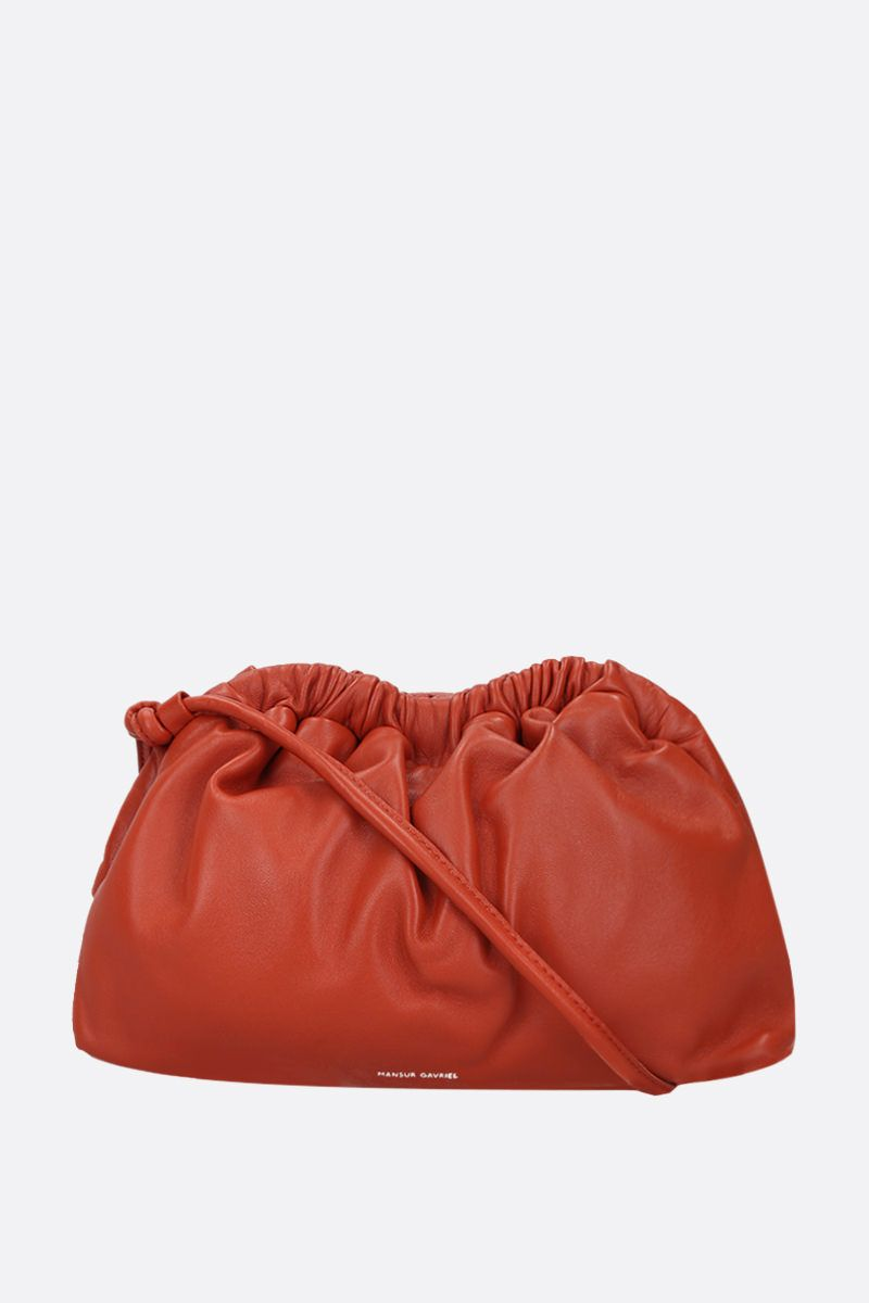 MANSUR GAVRIEL: mini Cloud soft nappa clutch Color Orange_1