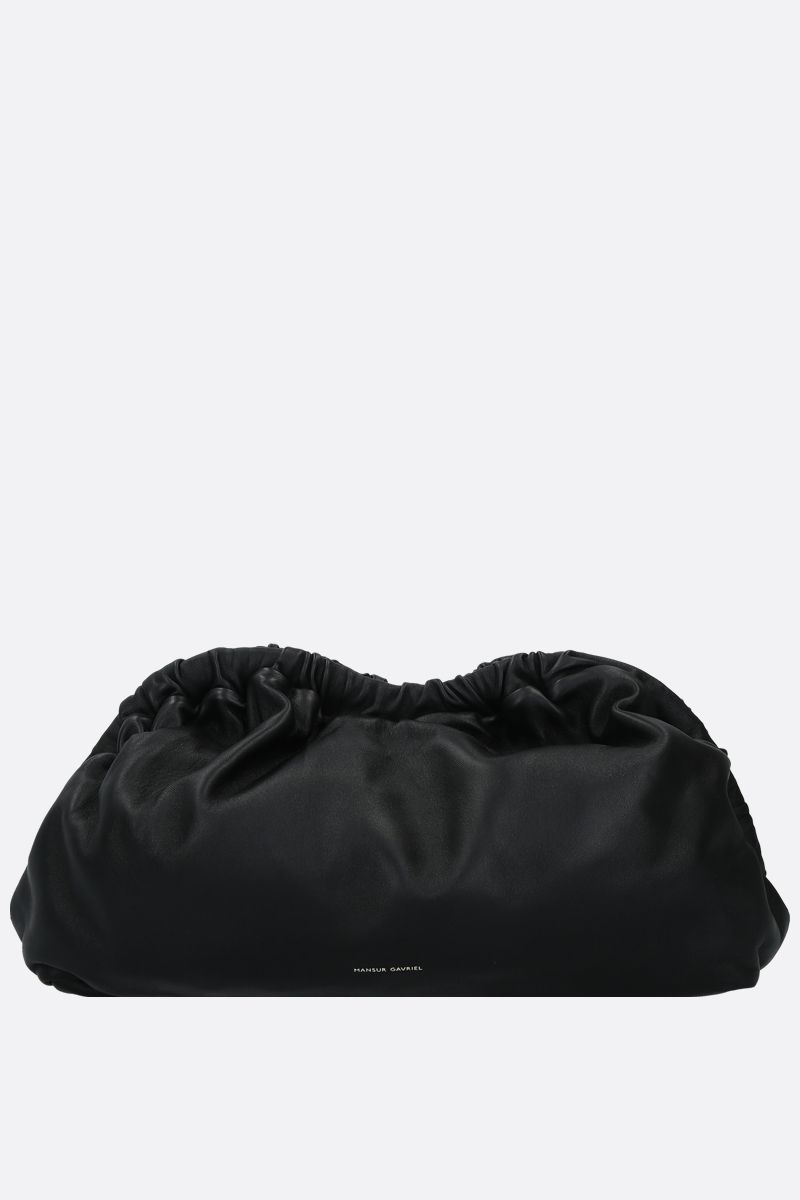 MANSUR GAVRIEL: Cloud soft nappa clutch Color Black_1