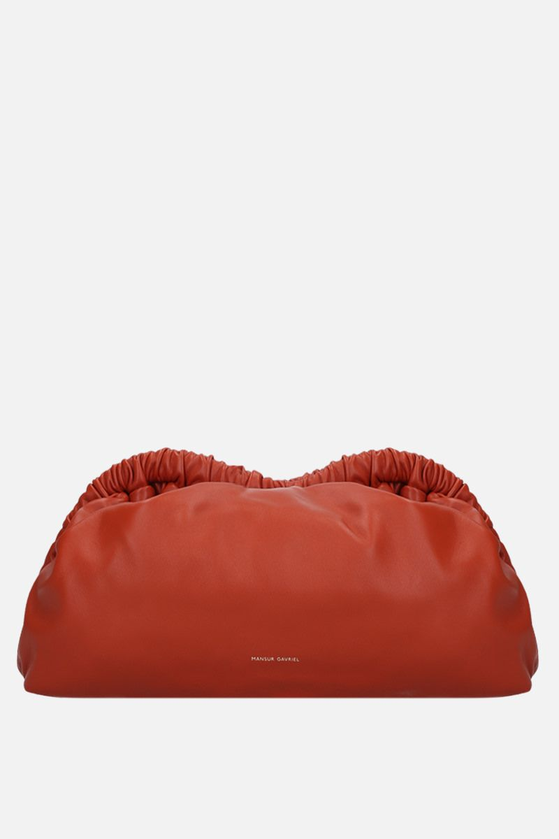 MANSUR GAVRIEL: Cloud soft nappa clutch Color Orange_1