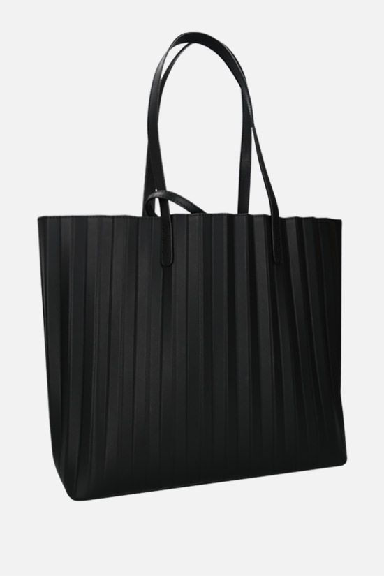MANSUR GAVRIEL: Pleated smooth leather tote Color Black_2