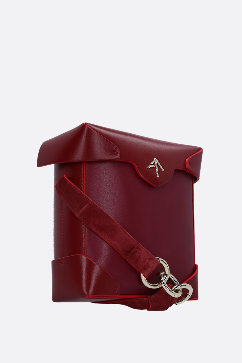 MANU ATELIER: Pristine Mini crossbody bag in smooth leather Color Red_2