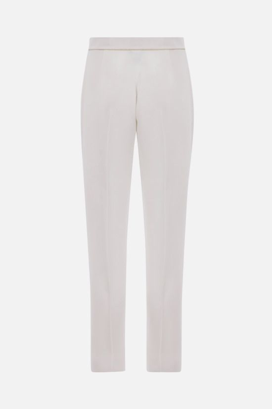 MAX MARA: Stella cady cropped pants Color White_2