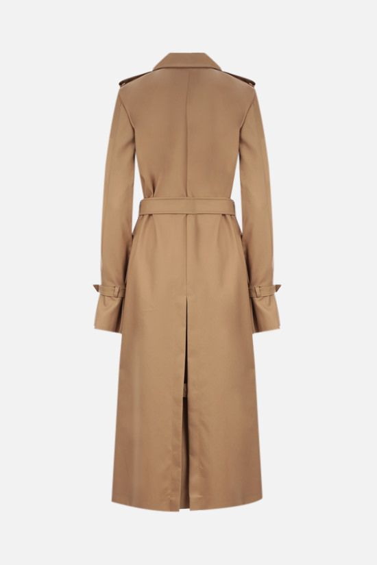 MAX MARA: Larix double-breasted gabardine trench coat Color Brown_2