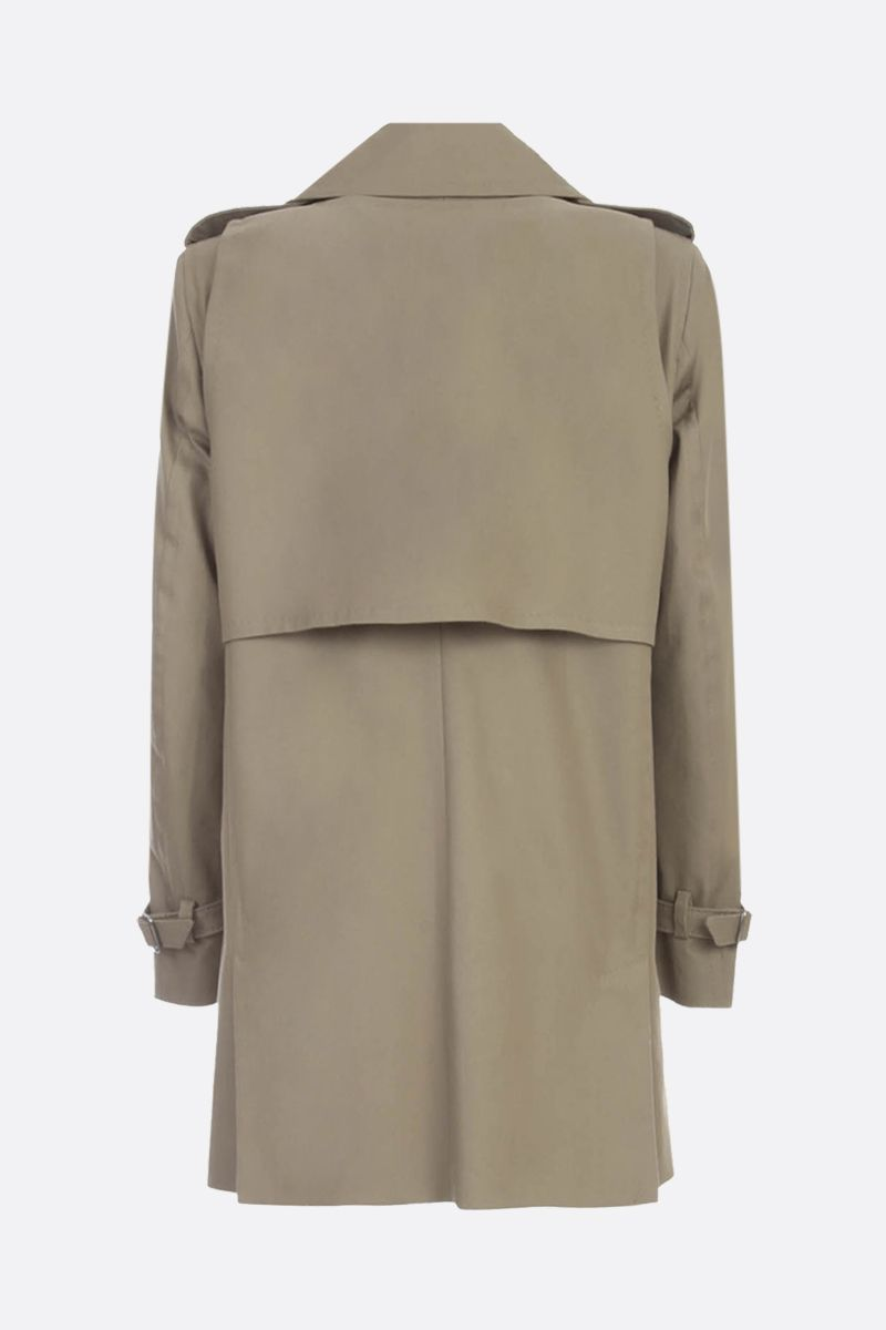 MAX MARA: Peonie twill double-breasted trench coat Color Animalier_2