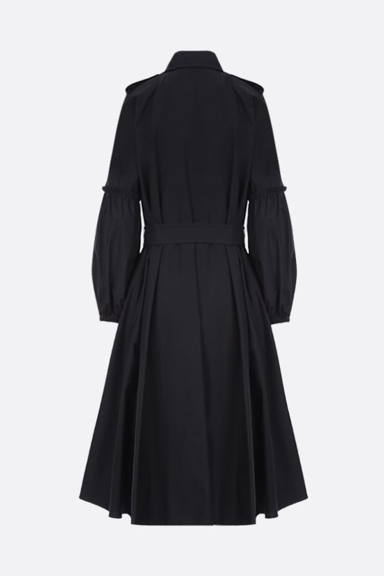 MAX MARA: Empoli double-breasted cotton trench coat Color Black_2