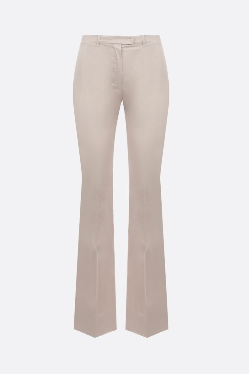 'S MAX MARA: Amelia stretch cotton cropped pants Color Neutral_1