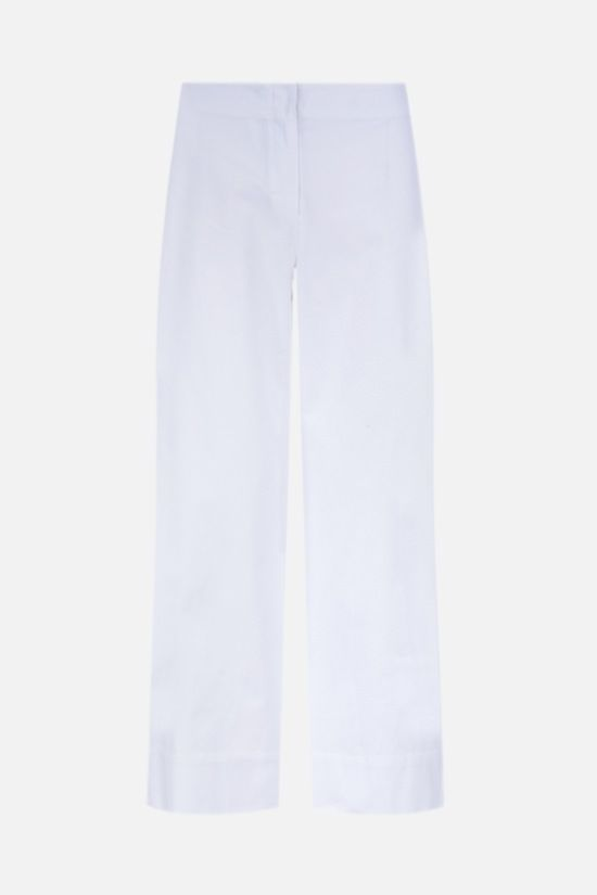 'S MAX MARA: Lonza cotton cropped pants Color White_1