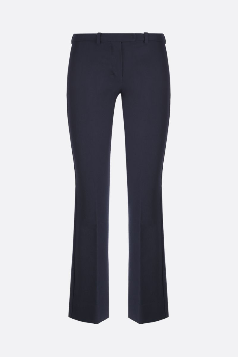 'S MAX MARA: Umanita technical cotton cropped pants Color Blue_1