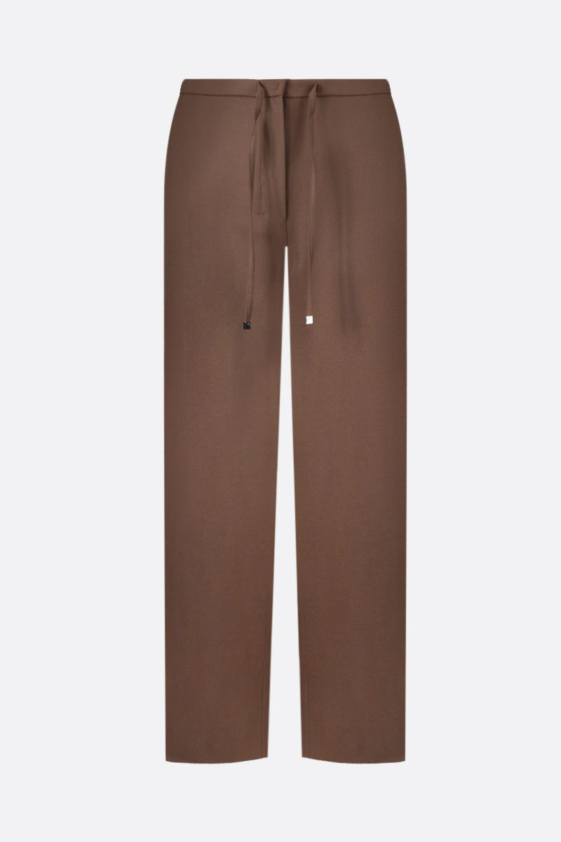 'S MAX MARA: Floria stretch flannel cropped pants Color Brown_1