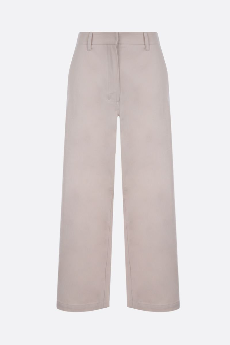 'S MAX MARA: Pasta crop cotton pants_1
