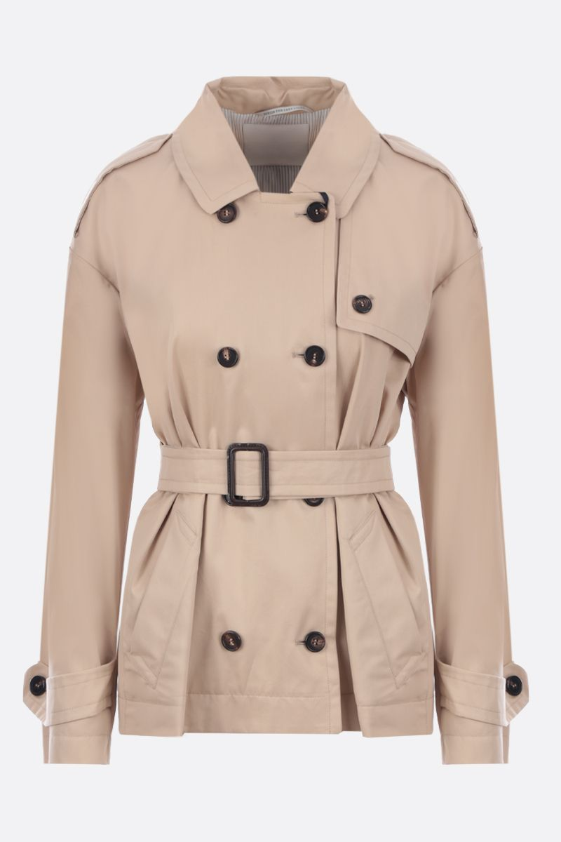 'S MAX MARA: Lisetta cotton double-breasted trench coat Color Neutral_1