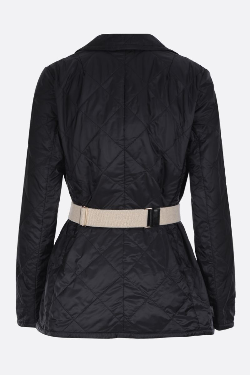 MAX MARA THE CUBE: Greenja single-breasted jacket in quilted nylon Color Black_2
