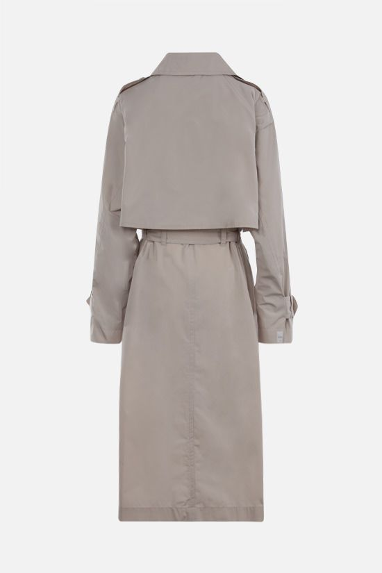 MAX MARA THE CUBE: Cimper taffetà double-breasted trench coat Color Neutral_2