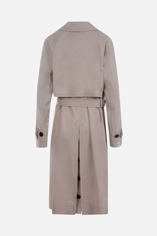 MAX MARA THE CUBE: Aimper cotton single-breasted trench coat Color Neutral_2