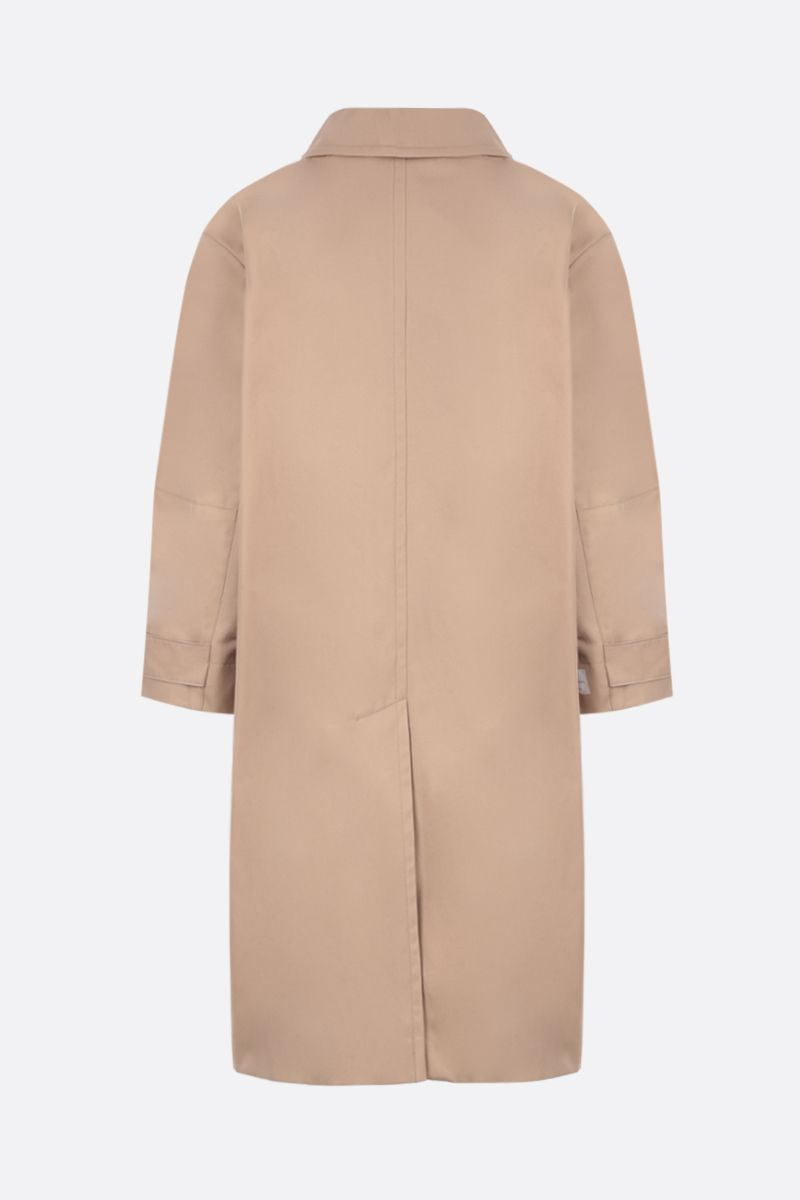 MAX MARA THE CUBE: Ftrench cotton overcoat Color Neutral_2