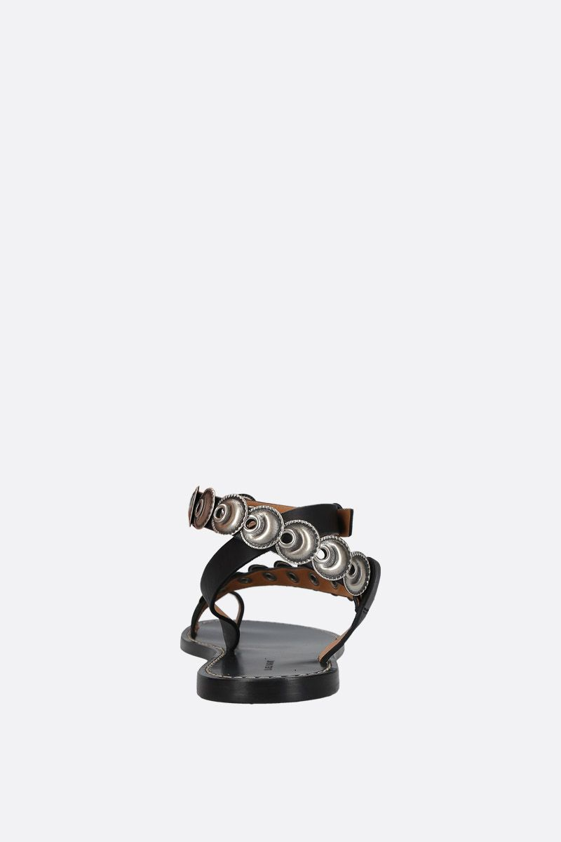 ISABEL MARANT: Ermony thong sandals in smooth leather Color Black_3