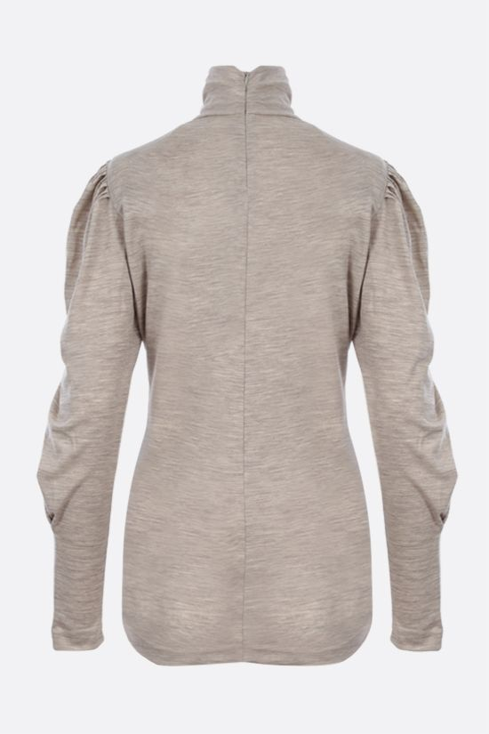 ISABEL MARANT: Gavina wool long-sleeved top Color Grey_2