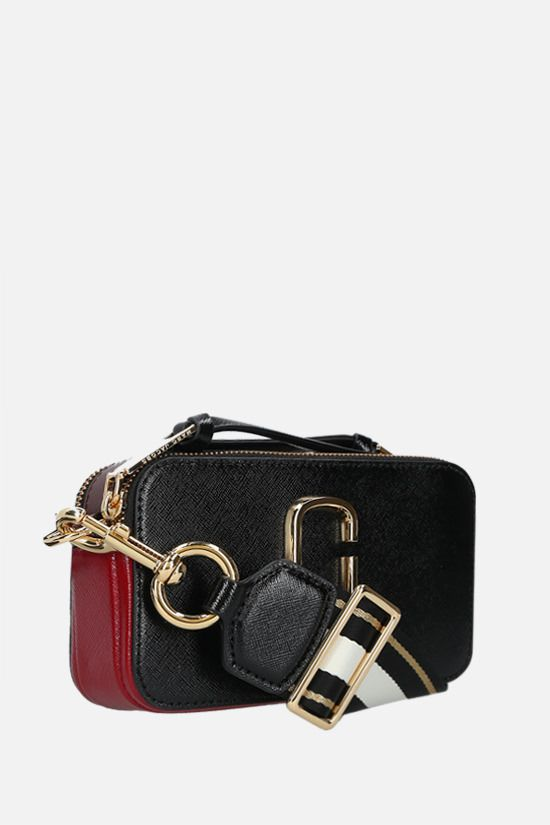 MARC JACOBS: Snapshot small crossgrain leather camera bag Color Black_2