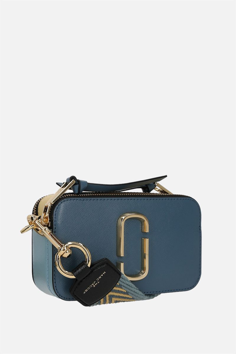 MARC JACOBS: Snapshot small crossgrain leather camera bag Color Blue_2
