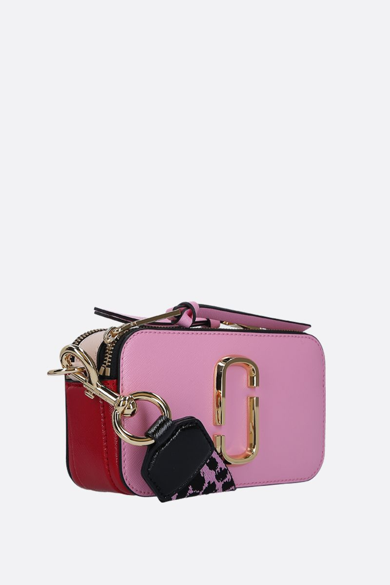 MARC JACOBS: borsa a tracolla Snapshot small in pelle crossgrain Colore Rosa_2