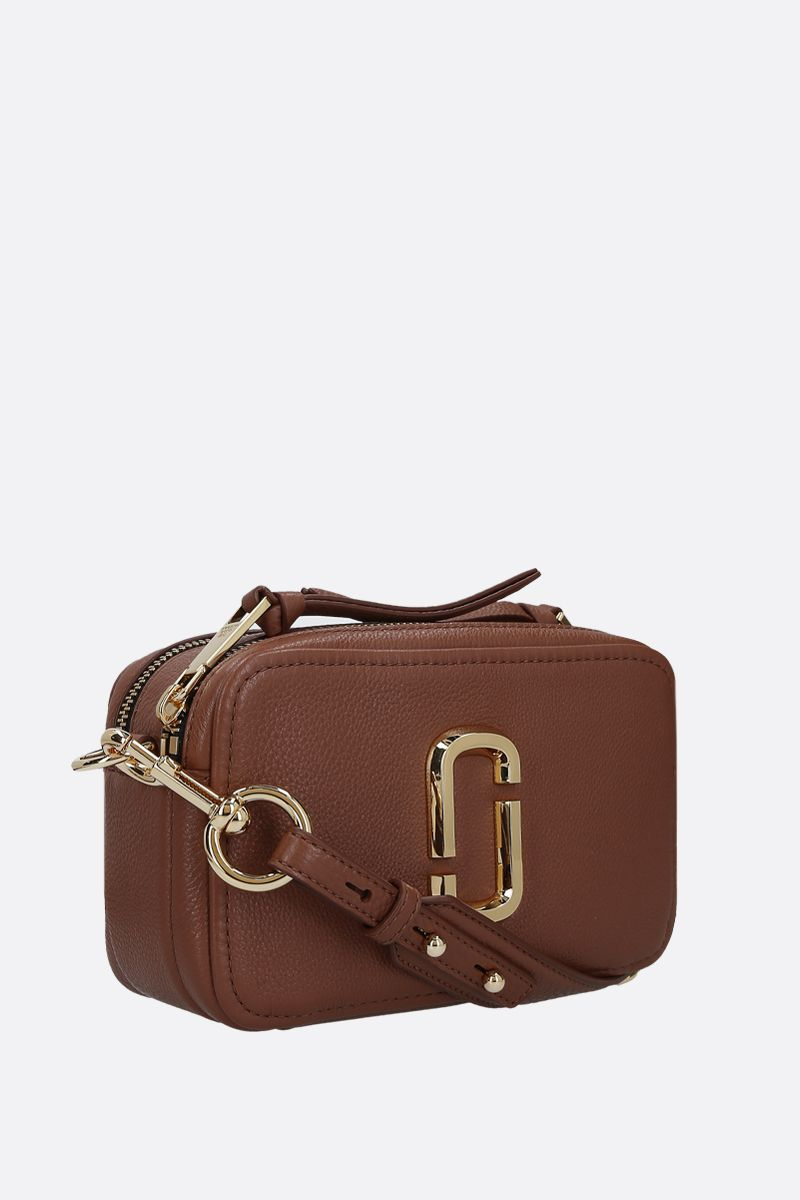 MARC JACOBS: The Softshot 21 grainy leather crossbody bag Color Brown_2