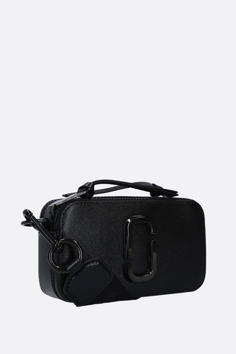 MARC JACOBS: Snapshort DTM crossbody bag in crossgrain leather Color Black_2