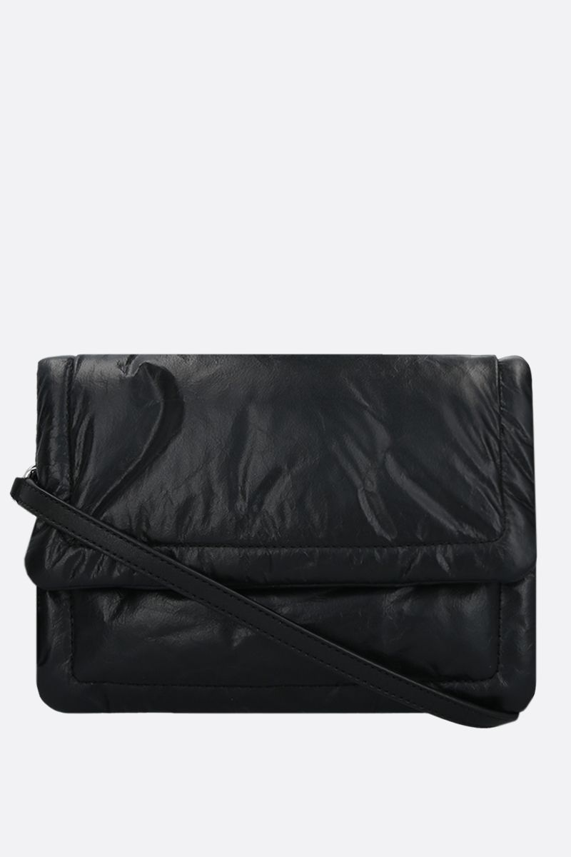 MARC JACOBS: The Pillow feather-light leather crossbody bag Color Black_2