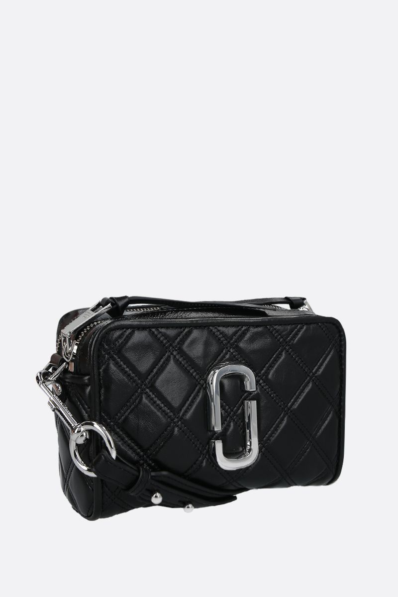 MARC JACOBS: borsa a tracolla The Softshot 21 in nappa matelassè Colore Nero_2