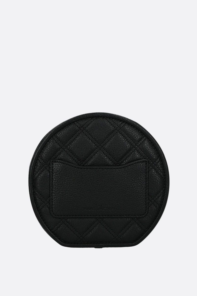 MARC JACOBS: The Status crossbody bag in quilted leather Color Black_3