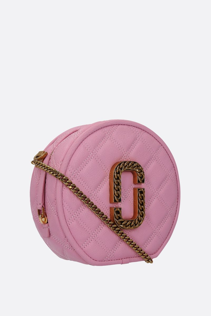 MARC JACOBS: The Status crossbody bag in quilted leather Color Pink_2