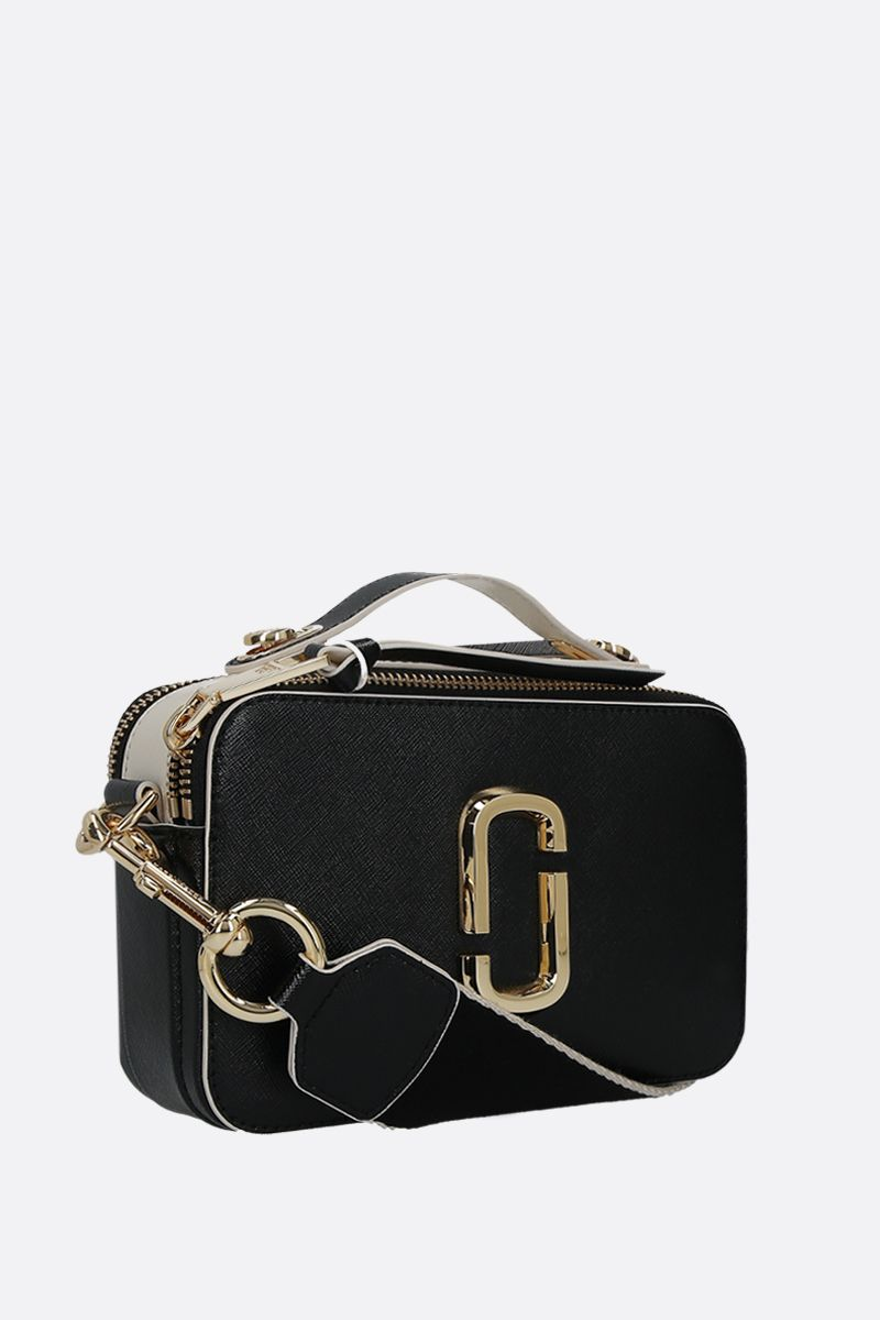 MARC JACOBS: Snapshot large saffiano leather crossbody bag Color Black_2